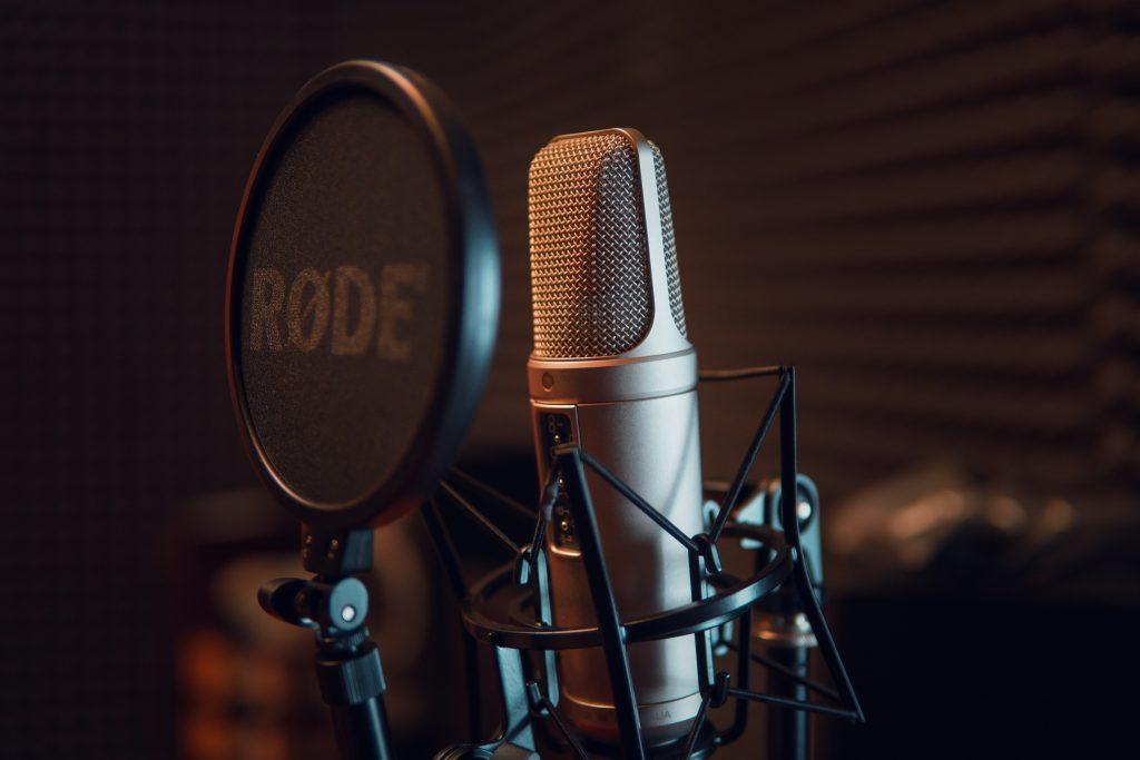 Anti pop micrófono pódcast